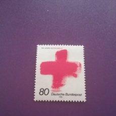 Sellos: SELLOS ALEMANIA, R. FEDERAL NUEVOS/1988/125 ANIV/CRUZ/ROJA/SIMBOLO/EMBLEMA/LOGOTIPO/. Lote 241698745