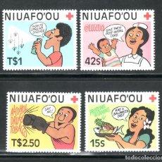 Sellos: SELLOS TEMA CRUZ ROJA. NIUAFO'OU 1987 86/89 4V.. Lote 242318430