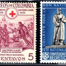 Sellos: SELLOS TEMA CRUZ ROJA. COLOMBIA 1955 S. PEDRO CLAVER / SUIZA 1940. 2V. SUELTOS.B. Lote 242319995