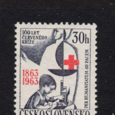 Sellos: CHECOSLOVAQUIA 1283* - AÑO 1963 - CENTENARIO DE LA CRUZ ROJA INTERNACIONAL. Lote 245991935