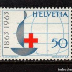 Sellos: SUIZA 709** - AÑO 1963 - CENTENARIO DE LA CRUZ ROJA INTERNACIONAL. Lote 245992215