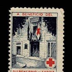 Sellos: 0158-6 CRUZ ROJA VIÑETA A BENEFICIO DEL DISPENSARIO DE SARRIA DE BARCELONA NUEVO SIN FIJASELLOS.. Lote 246059335