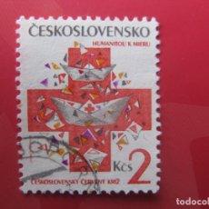Timbres: CHECOSLOVAQUIA, 1992, CRUZ ROJA CHECOSLOVACA, YVERT 2919. Lote 246741105
