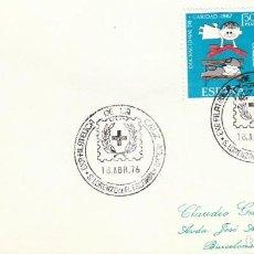 Sellos: 1976 SAN LORENZO DEL ESCORIAL (MADRID), EXPOSICION SOBRE LA CRUZ ROJA. Lote 247320615