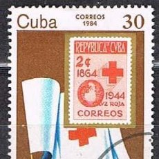 Sellos: CUBA Nº 2840, 75 ANIVERSARIO DELA CRUZ ROJA CUBANA, USADO. Lote 262594375