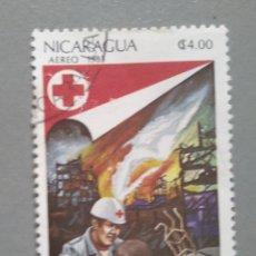 Sellos: SELLO NICARAGUA 1983 CRUZ ROJA USADO. Lote 267164084