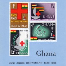 Sellos: GHANA - CENTENARIO CRUZ ROJA HOJA BLOQUE MNH NUEVA.. Lote 267458104