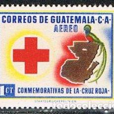 Sellos: GUATEMANA 631, CRUZ ROJA , NUEVO ***. Lote 268145269