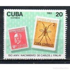 Sellos: ⚡ DISCOUNT CUBA 1983 THE 150TH ANNIVERSARY OF THE BIRTH OF CARLOS J. FINLAY, MALARIA RESEARCHE. Lote 270385108