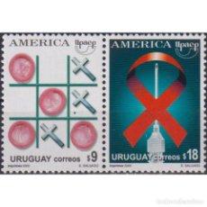 Sellos: ⚡ DISCOUNT URUGUAY 2000 AMERICA - A.I.D.S. AWARENESS MNH - THE MEDICINE. Lote 270389398