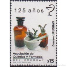Sellos: ⚡ DISCOUNT URUGUAY 2013 THE 125 YEARS OF THE ASSOCIATION OF CHEMISTS AND PHARMACISTS OF URUGUA. Lote 270391573