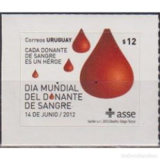 Sellos: ⚡ DISCOUNT URUGUAY 2012 WORLD BLOOD DONOR DAY MNH - THE MEDICINE. Lote 289980193