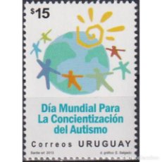 Sellos: ⚡ DISCOUNT URUGUAY 2013 WORLD DAY FOR AWARENESS OF AUTISM MNH - THE MEDICINE. Lote 289980453