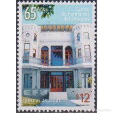 Sellos: ⚡ DISCOUNT URUGUAY 2002 THE 65TH ANNIVERSARY OF THE PHARMACY CENTRE MNH - THE MEDICINE, PHAR. Lote 289982573