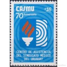 Sellos: ⚡ DISCOUNT URUGUAY 2005 THE 70TH ANNIVERSARY OF HEALTH INSURANCE MNH - THE MEDICINE. Lote 289983828