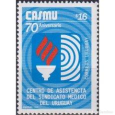 Sellos: ⚡ DISCOUNT URUGUAY 2005 THE 70TH ANNIVERSARY OF HEALTH INSURANCE - WITH INSCRIPTION CORREOS UR. Lote 289983838