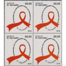 Sellos: ⚡ DISCOUNT SALVADOR 2016 STOP AIDS MNH - THE MEDICINE. Lote 289984853