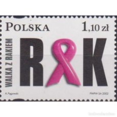 Sellos: ⚡ DISCOUNT POLAND 2002 FIGHT WITH CANCER MNH - THE MEDICINE. Lote 289988488