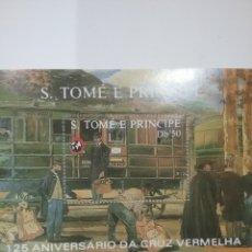 Sellos: HB S. TOME Y PRINCIPE NUEVAS/1988/125ANIV/CRUZ/ROJA/TRENES/LOCOMOTORA/FERROCARRIL/TRAMVIA/VAPOR/ESTA. Lote 291244638