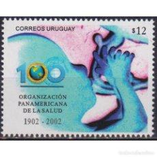 Sellos: ⚡ DISCOUNT URUGUAY 2002 THE 100TH ANNIVERSARY OF THE PAN AMERICAN HEALTH ORGANIZATION MNH -. Lote 296062883