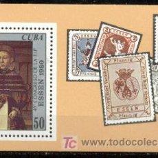 Sellos: CUBA. HB 63 CONGRESO FIP**. ESSEN 1980. RETRATO DE DAMA DE LUDGER TOM RING, EL JOVEN. Lote 4709745