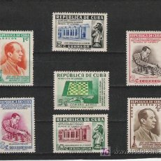 Sellos: CUBA SERIE NUEVA PERFECTA LIGERA SEÑAL DE CHARNELA. Lote 28310528