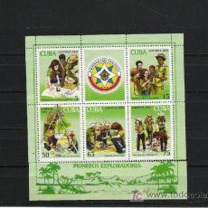 Sellos: CUBA HOJA BLOQUE EXPLORADORES. Lote 6454484