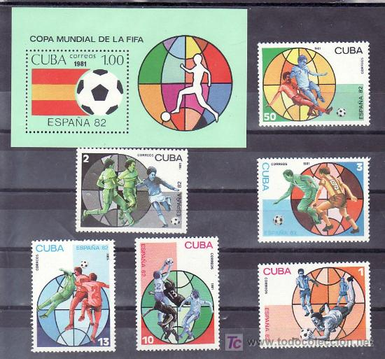 CUBA 2249/54, HB 65 SIN CHARNELA, ESPAÑA 82 COPA DEL MUNDO DE FUTBOL, (Sellos - Extranjero - América - Cuba)
