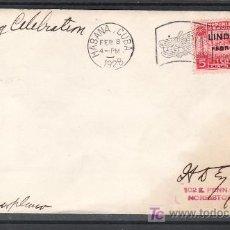 Sellos: CUBA AEREO 2 SOBRE MATº CONMEMORATIVO DEL VUELO LINDBERGH HACIA AMERICA DEL SUR, 8/2/1928, LLEGADA. Lote 10671052