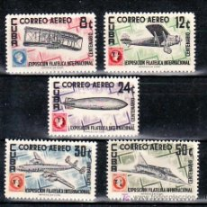 Sellos: CUBA AEREO 120/4 SIN CHARNELA, AVION, CENTENARIO DEL SELLO ANTILLAS, EXP. FILATELICA INTERNACIONAL, . Lote 12038869