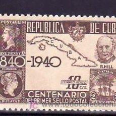 Sellos: CUBA AEREO 32 CON CHARNELA, MAPA CUBA, ROWLAND HILL, CENTENARIO DEL SELLO. Lote 153372277