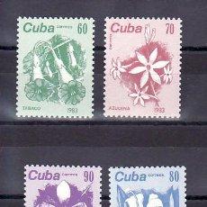 Sellos: CUBA 2474/7 SIN CHARNELA, FLORES, . Lote 10829732