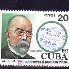 Sellos: CUBA 2376 SIN CHARNELA, MEDICINA, CENTENARIO DESCUBRIMIENTO DEL BACILO TUBERCULOSIS POR ROBERT KOCH. Lote 9149028