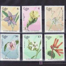 Francobolli: CUBA 2228/33 SIN CHARNELA, FLORES SILVESTRES, . Lote 9149470
