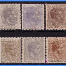 Sellos: 1880 Y 1881 ALFONSO XII, SERIES CORTAS * * / *. Lote 9296044