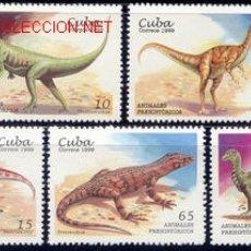 Sellos: CUBA 1999 3780/84 DINOSAURIOS 5V . Lote 1895626