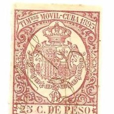 Sellos: CUBA ESPAÑOLA - TIMBRE MOVIL - ENVIO GRATIS. Lote 13554013