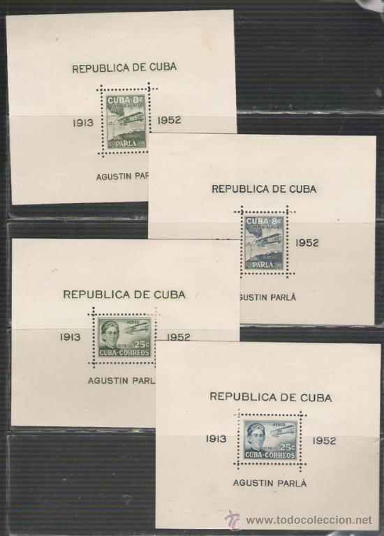 CUBA SERIE DE HOJAS BLOQUE Nº 10/13 NUEVAS (Sellos - Extranjero - América - Cuba)