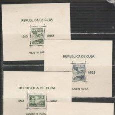 Sellos: CUBA SERIE DE HOJAS BLOQUE Nº 10/13 NUEVAS . Lote 26921521