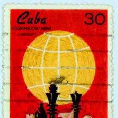 Sellos: CUBA 1969 - VI CAPABLANCA IN MEMORIAN. Lote 15834105