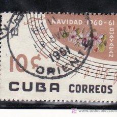 Sellos: CUBA 545 USADA, NAVIDAD, FLORES, GUAYACAN . Lote 19512327