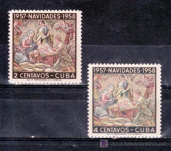CUBA 468/9 SIN CHARNELA, NAVIDAD, (Sellos - Extranjero - América - Cuba)