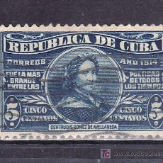 Sellos: CUBA 174 USADA, CENTº NACIMIENTO DE LA POETISA GERTRUDI GOMEZ DE AVELLANEDA. Lote 157731396