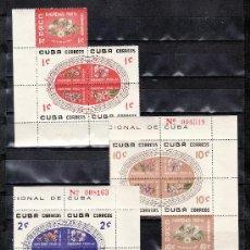 Sellos: CUBA 535/49 SIN CHARNELA, NAVIDAD, FLORES, MUSICA, . Lote 20063307