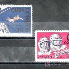 Sellos: CUBA 839/40 SIN CHARNELA, ESPACIO, VUELO DE VOSKHOD 2 . Lote 24964501