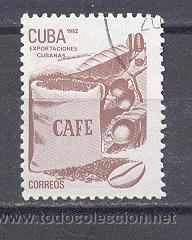 CUBA, 1982, NUEVOS, PREOBLITERADOS, SIN CHARNELA- EXPORTACIONES CUBANAS- CAFE (Sellos - Extranjero - América - Cuba)