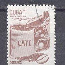 Sellos: CUBA, 1982, NUEVOS, PREOBLITERADOS, SIN CHARNELA- EXPORTACIONES CUBANAS- CAFE. Lote 21883803