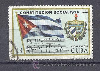 CUBA, 1976,USADO- CONSTITUCION SOCIALISTA (Sellos - Extranjero - América - Cuba)