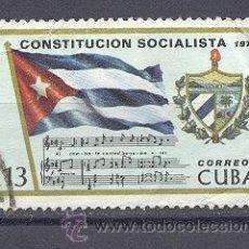 Sellos: CUBA, 1976,USADO- CONSTITUCION SOCIALISTA. Lote 21884548