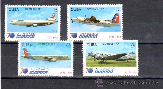 ANIVERSARIO CUBANA (Sellos - Extranjero - América - Cuba)